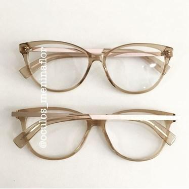 e9d05b80c1447 Armação de grau - Gatinho 1736 - Dourado transparente - Óculos ...