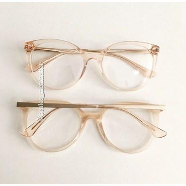 17ad6c3ba75b4 Armação de grau - Luar - Dourado transparente - Óculos Menina Flor