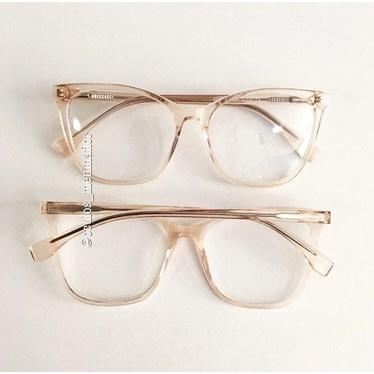 db3be384b Armação de grau - Rich - Dourado transparente - Óculos Menina Flor