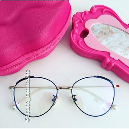 95d813e2f Armacao grau round athenas | Óculos Menina Flor