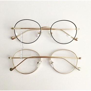 26d565140 Armação de grau - Round Beatles - Preto com dourado - Óculos Menina Flor