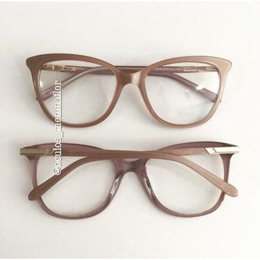 Armação de óculos de grau - Ágata - Nude chocolate