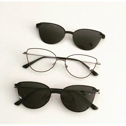 Armação de óculos de grau - Alana - Bordo com grafite C4