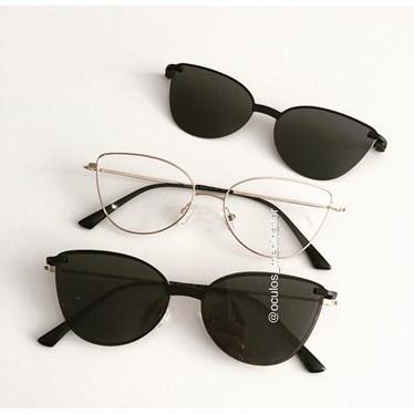 Armação de óculos de grau - Alana - Dourado