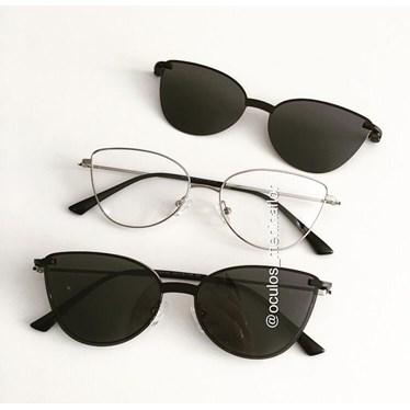 Armação de óculos de grau - Alana - Prata