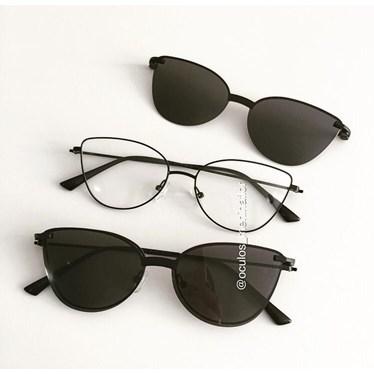 Armação de óculos de grau - Alana - Preto