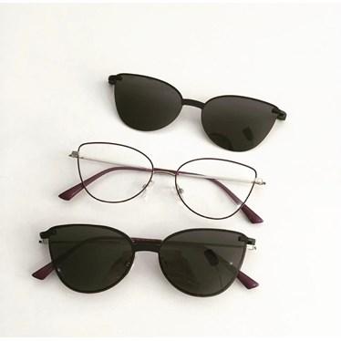 Armação de óculos de grau - Alana - Roxo com grafite C3