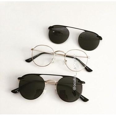 Armação de óculos de grau - Alice 66017 / Aro 47 - Dourado
