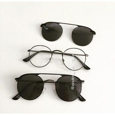 Armação de óculos de grau - Alice 66017/ Aro 47 - Grafite C4