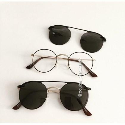 Armação de óculos de grau - Alice 66017/ Aro 47 - Marrom com dourado
