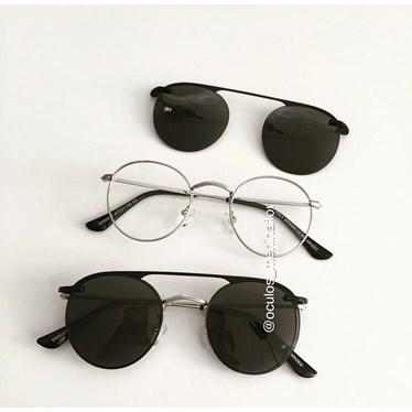 Armação de óculos de grau - Alice 66017 / Aro 47- Prata C5