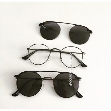 Armação de óculos de grau - Alice 66017 - Gráfite C4