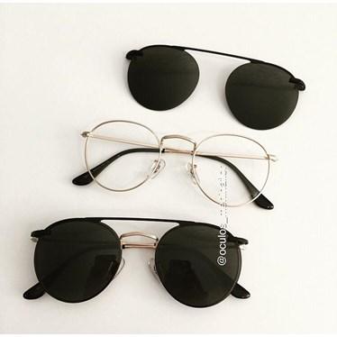 Armação de óculos de grau - Alice - Dourado
