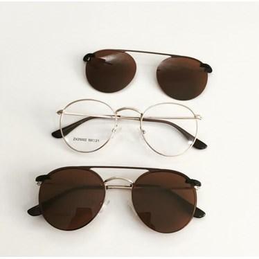 Armação de óculos de grau - Alice - Dourado lente marrom