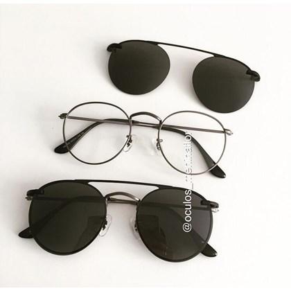 Armação de óculos de grau - Alice - Grafite