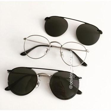 Armação de óculos de grau - Alice - Prata