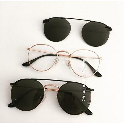 Armação de óculos de grau - Alice - Rose Gold