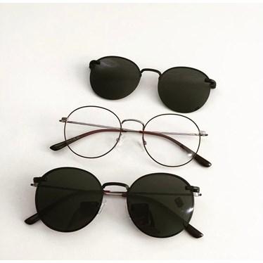 Armação de óculos de grau - Aloha - Bordo com Grafite lente preta