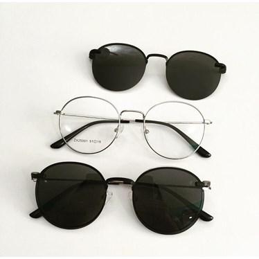 Armação de óculos de grau - Aloha - Prata