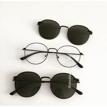 Armação de óculos de grau - Aloha - Preto