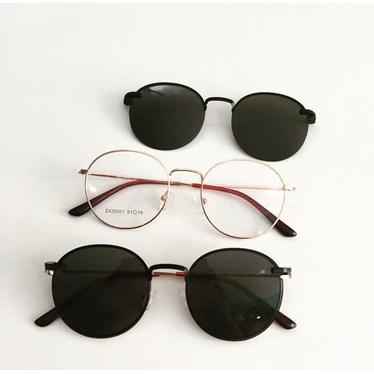 Armação de óculos de grau - Aloha - Rose Gold