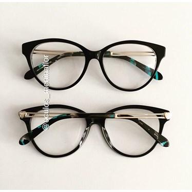 Armação de óculos de grau - Amore - Preto