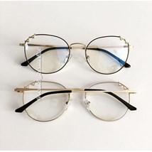 Armação de óculos de grau - Angel - Preto com dourado