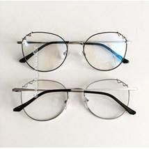 Armação de óculos de grau - Angel - Preto com prata