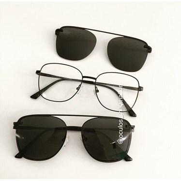 Armação de óculos de grau - Antonella - Preto