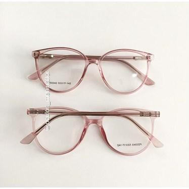 Armação de óculos de grau - Ariel 3343 - Rose transparência