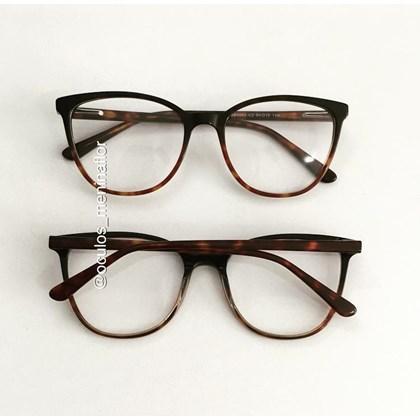 Armação de óculos de grau - Ariel BB5063 - Animal print escuro