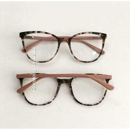 Armação de óculos de grau - Ariel BB5063 - Animal print haste rose