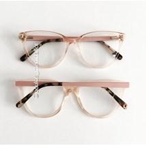 Armação de óculos de grau - Ariel - Dourado transparente