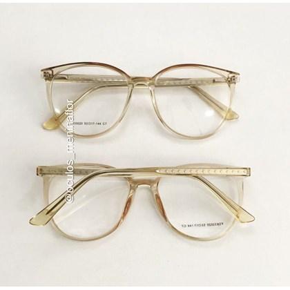 Armação de óculos de grau - Ariel estrela - Dourado transparente