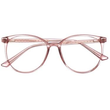 Armação de óculos de grau - Ariel estrela - Rose transparência