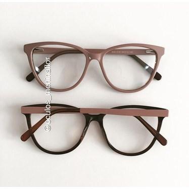 Armação de óculos de grau - Ariel - Nude chocolate