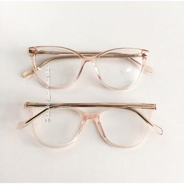 Armação de óculos de grau - Ariel Two - Rose transparência