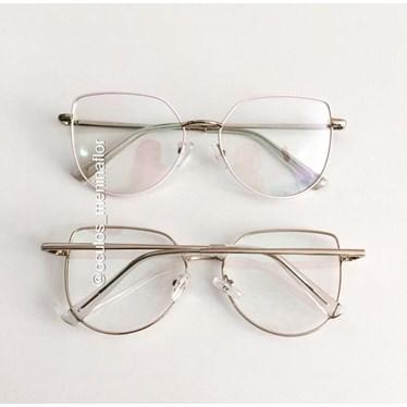 Armação de óculos de grau - Aurora 8012 - Rose Clarinho C1