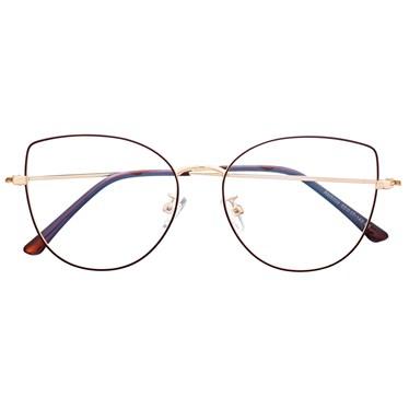 Armação de óculos de grau - Aurora Deux - Marrom com dourado C2