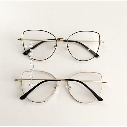 Armação de óculos de grau - Aurora Deux  - Preto com dourado C1