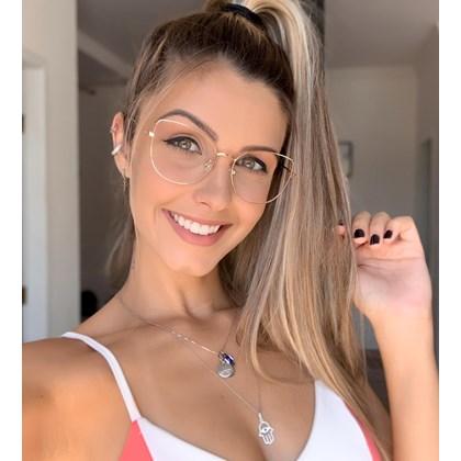 Armação de óculos de grau - Aurora Deux - Rose Gold
