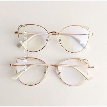 Armação de óculos de grau - Aurora - Dourada C5