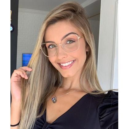 Armação de óculos de grau - Aurora Due - Dourado