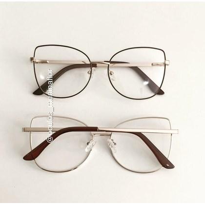 Armação de óculos de grau - Aurora Due - Marrom com dourado C4
