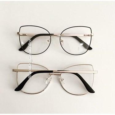 Armação de óculos de grau - Aurora Due - Preto com Dourado C3
