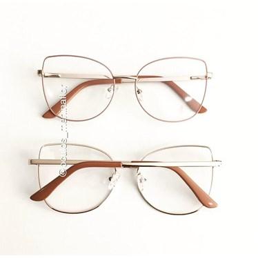 Armação de óculos de grau - Aurora Due - Rose