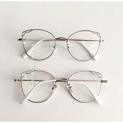 Armação de óculos de grau - Aurora - Prata