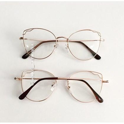 Armação de óculos de grau - Aurora - Rose Gold C6