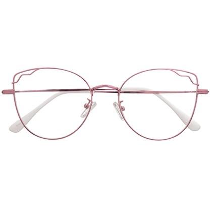 Armação de óculos de grau - Aurora - Rose Metálico