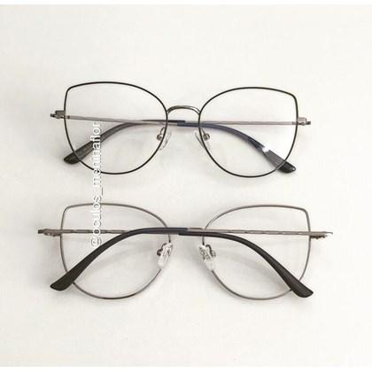 Armação de óculos de grau - Aurora Two - Azul com grafite C4